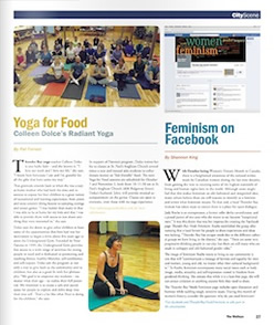 Radiant Yoga with Colleen featured in Thunder Bay's Walleye Magazine